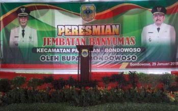 Bupati Bondowoso KH Salwa Arifin Meresmikan Jembatan Banyumas