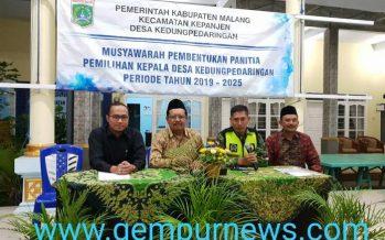 Musyawarah  Pembentukan Panitia Pilkades Kedungpedaringan Periode Tahun 2019 – 2025