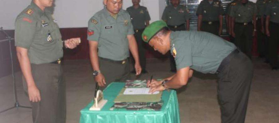 Pergeseran 6 Perwira jajaran Kodim 0820/Probolinggo
