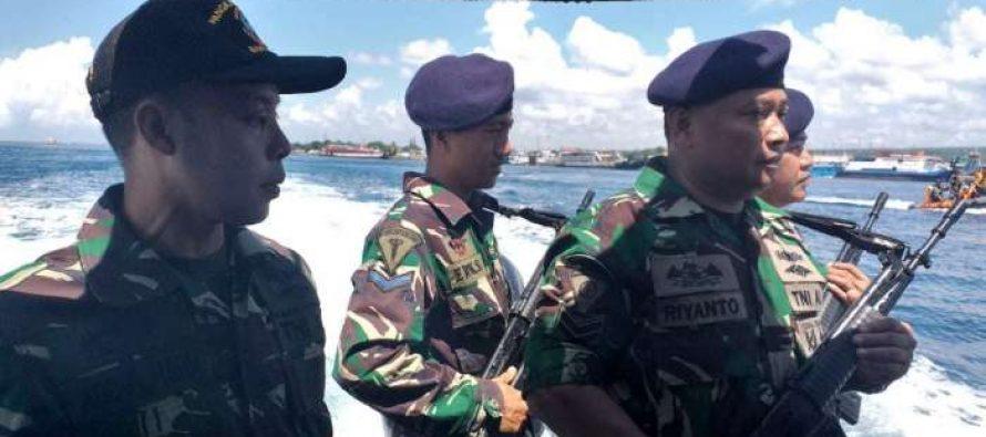 Jelang Pemilu TNI AL Banyuwangi Tingkatkan Patroli