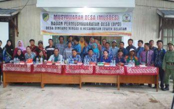 Hasil Musdes Bintang Ninggi II Akan Dimusyawarahkan Pada Musrenbangdes Ditingkat Kecamatan