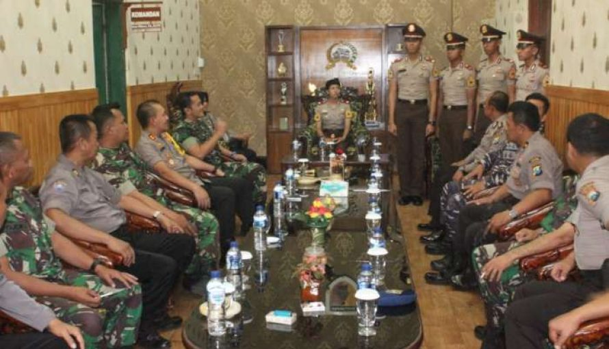 Polres dan Danpos Lanal Probolinggo Bersilaturahmi ke Kodim 0820/Probolinggo