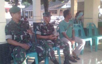 Aparat TNI dan Linmas siap mengamankan pemilihan BPD.