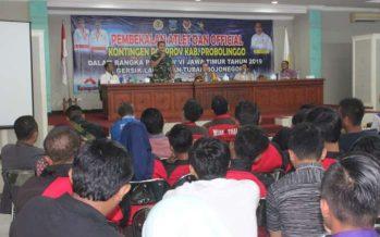 Kontingen PORPROV Kabupaten Probolinggo dapat pembekalan Dandim 0820