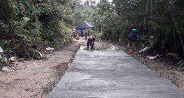 Pemdes Nihan Hilir Akan Menyelesaikan Pembangunan Jalan Penghubung Ke Sembilan Desa