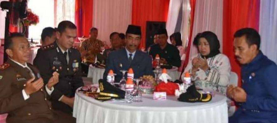 Syukuran HUT Bhayangkara Ke 73 Dihadiri Wabup di Kecamatan Lahei