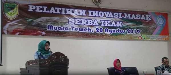 Tim Penggerak PKK Dari 9 Kecamatan Se-Barito Utara Ikuti Pelatihan Inovasi Masak Serba Ikan