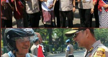 HUT Kemerdekaan RI ke 74, Polres Pasuruan Hiasi Gerbang Masuk Kantor