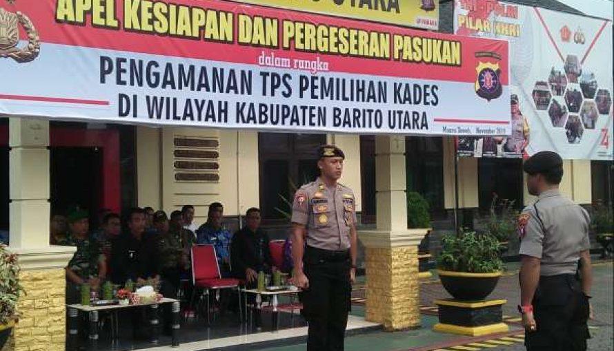 Wabup Barito Utara Hadiri Apel Kesiapan Dan Pergeseran Pasukan PAM TPS