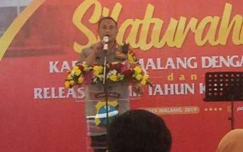 SilahturahmiKapolres Malang Dengan Media Dan Release akhir Tahun Kaleidoskop 2019.