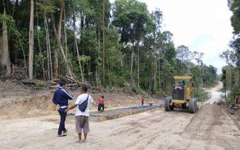Bupati Barito Utara H.Nadalsyah Tinjau Pekerjaan Peningkatan Ruas Jalan Tembus Lemo-Palangka Raya,KM 16-Durian Ramba
