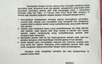 Maraknya Isu Penculikan Anak, Kadispendik Bondowoso Terbitkan Surat Edaran