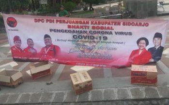 DPC PDIP Sidoarjo Sebar Masker & Jamu Tolak Corona