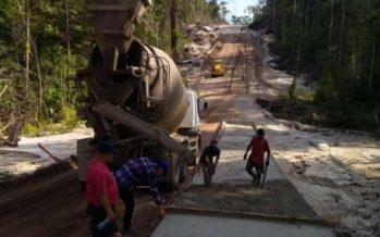 Bupati Barito Utara Tinjau Proses Penyelesaian Jalan