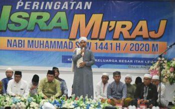 KKBIL Sosialisasikan Protokol Corona Pada Gelaran Isra Mi'raj 1441