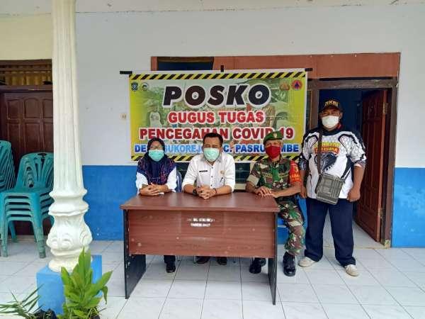 7 Desa di Kecamatan Pasrujambe Serempak Dirikan Posko Corona
